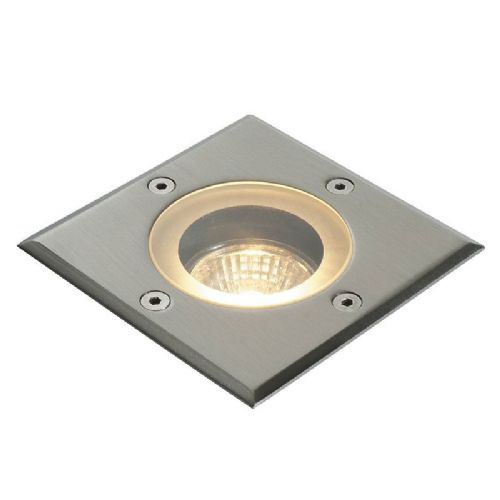 Marine grade brushed stainless steel & clear glass Ground Light 52211 by Endon